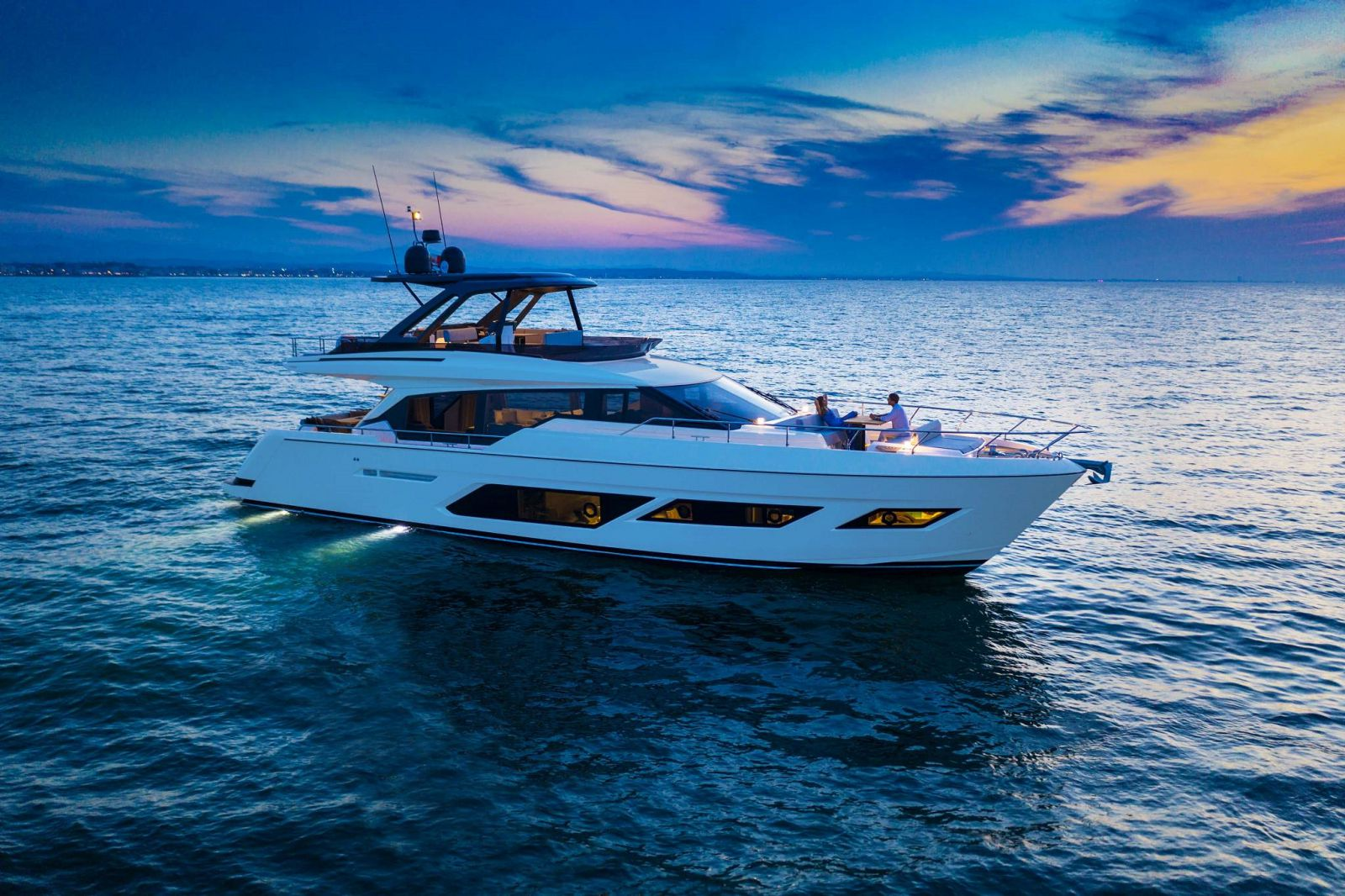 Ferretti Yachts 720 at FLIBS - Fort Lauderdale International Boat Show