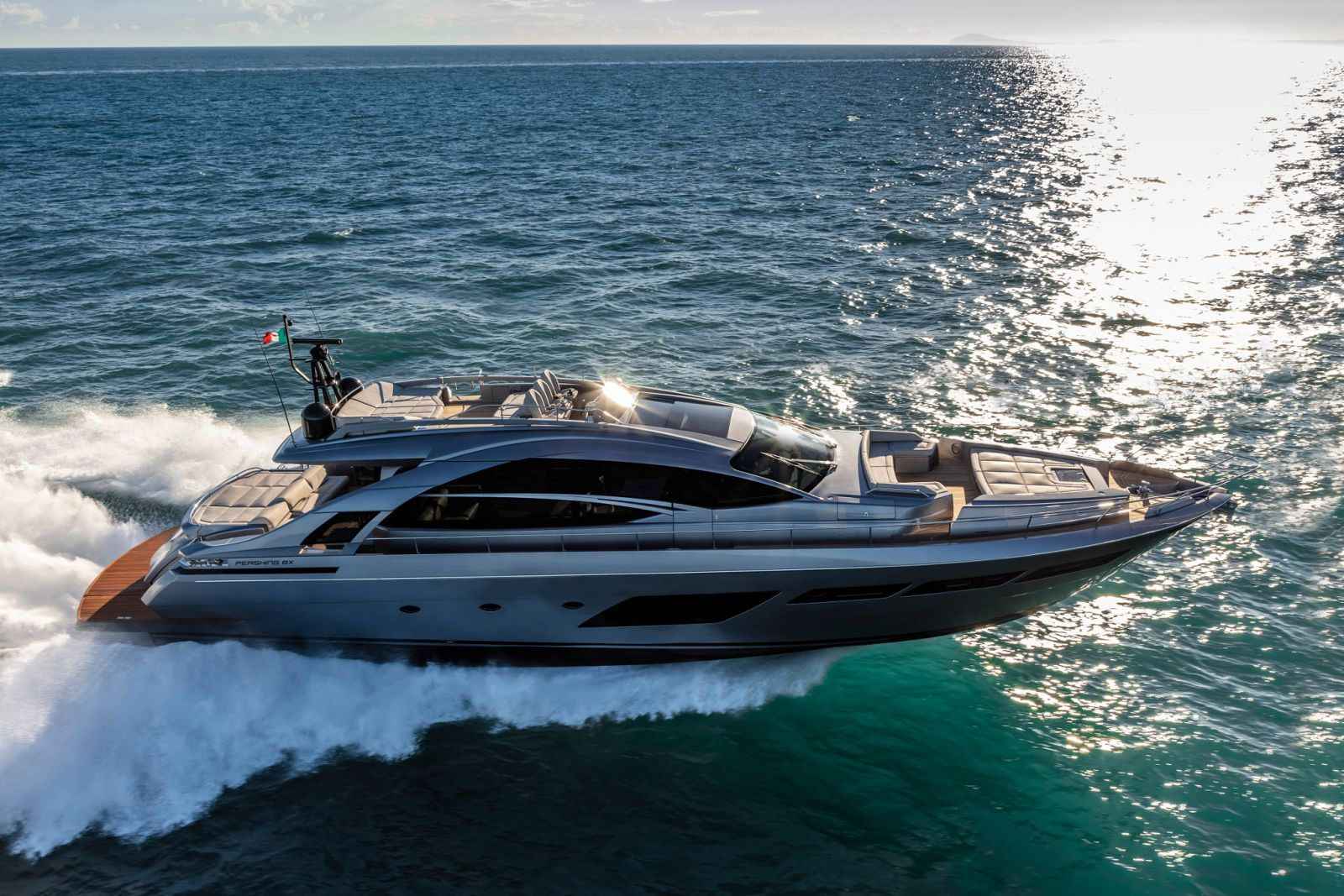 Pershing 8X Yacht for Sale - Profile Running Shot