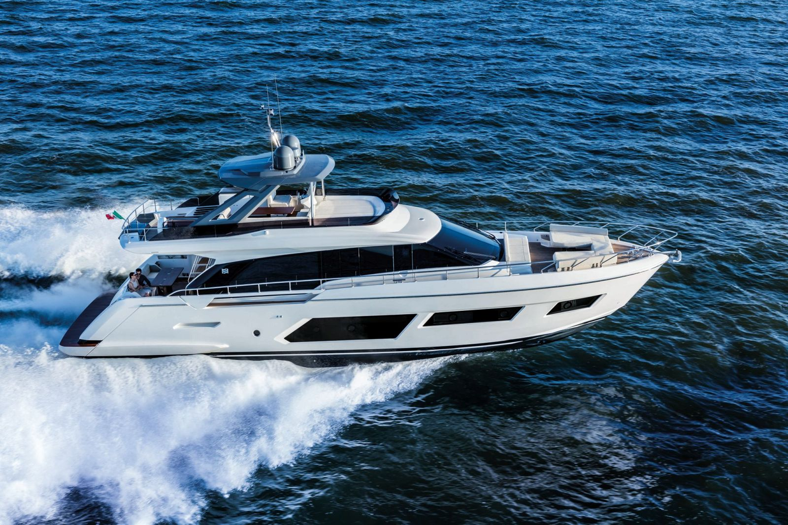 Ferretti Yachts 670 Exterior Running Shot - New Luxury Yacht for Sale >
