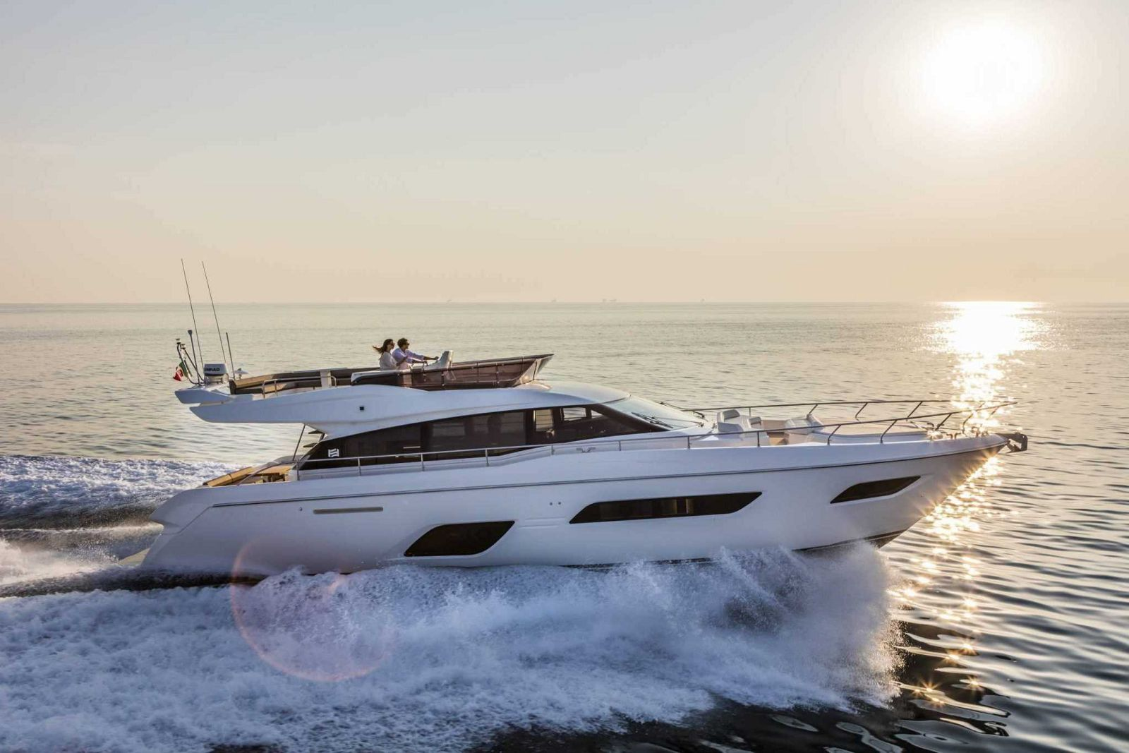 Ferretti Yachts 550 Exterior Running Shot - New Luxury Yacht for Sale >
