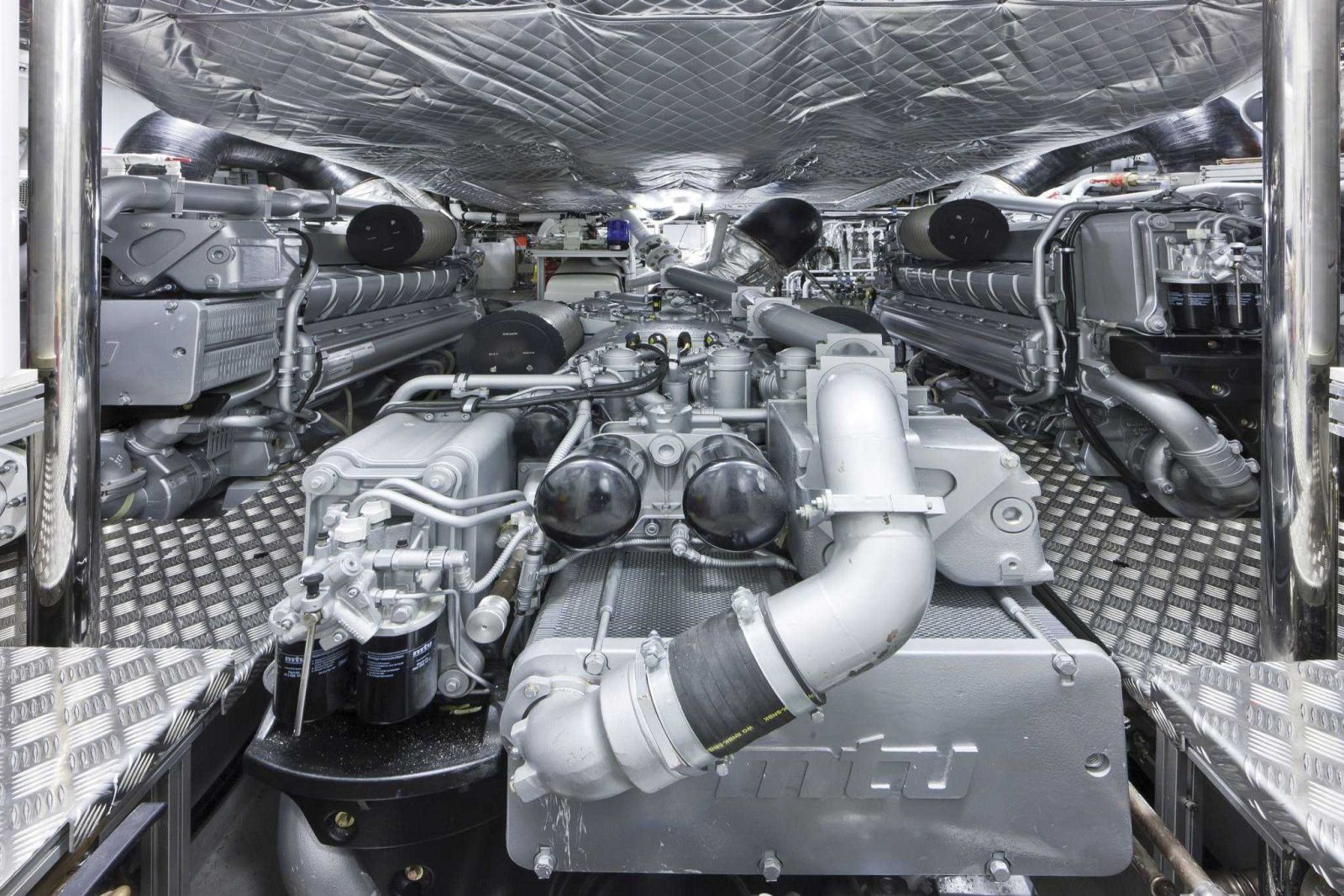 Pershing 108 Engine Room - New Luxury Yacht for Sale >