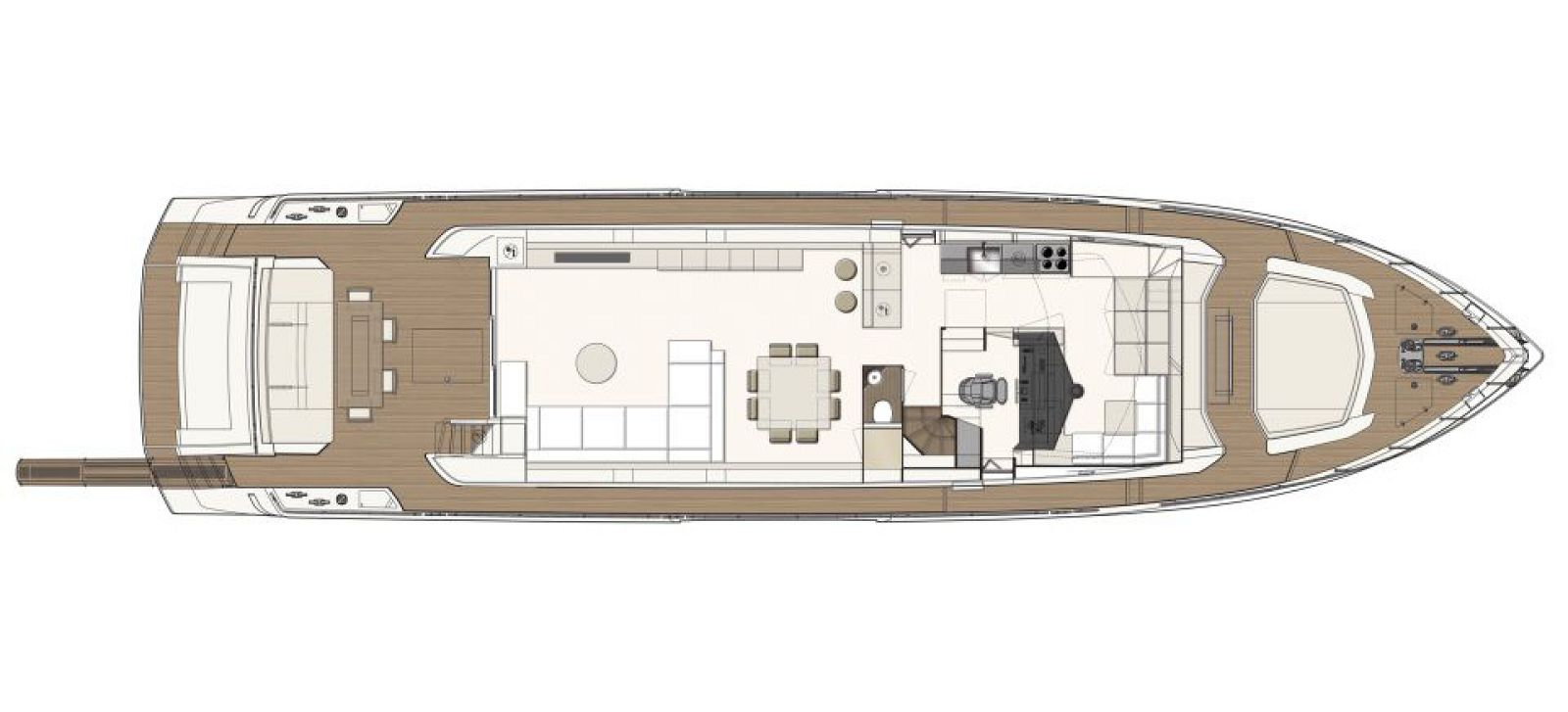 Ferretti Yachts 850 Layout - New Luxury Yacht for Sale >