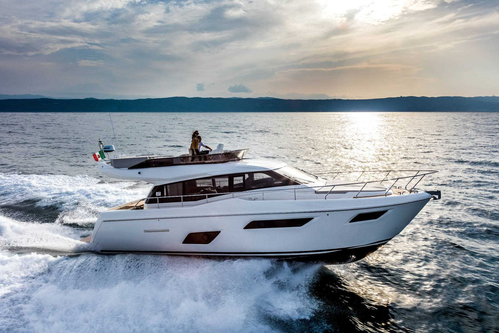 Ferretti Yachts 450 Exterior Running Shot - New Luxury Yacht for Sale >