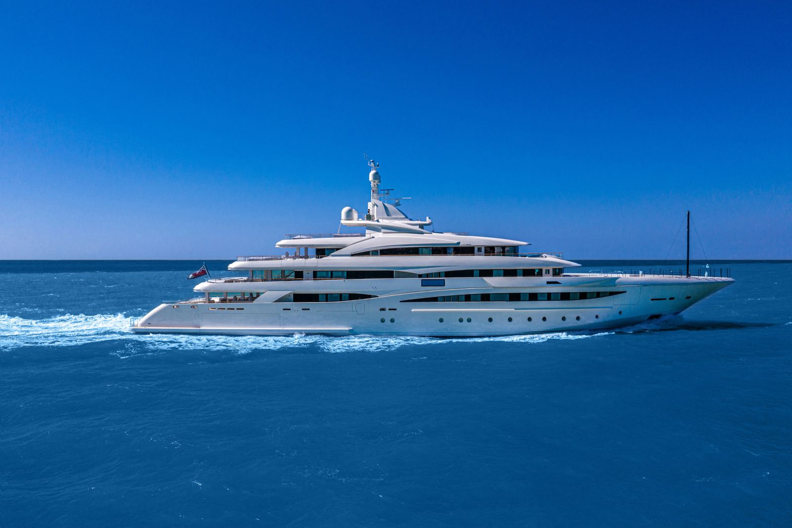 Exterior profile of the CRN 135 in the water. >